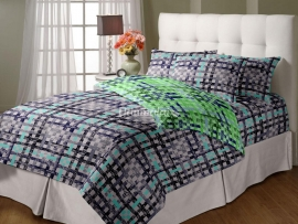Checks - Single Reversible Quilt