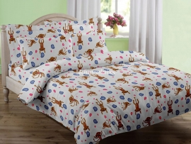 Monkey - Single Bed Sheet Set