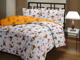 Monkey - Single Reversible Quilt
