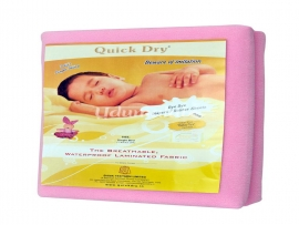 Quick Dry Single Bed (Pink)