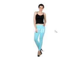 Twin birds womens leggings Aqua marine