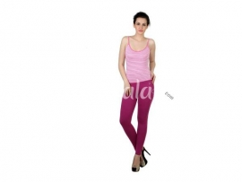 Twin birds womens leggings Fuchsia violet