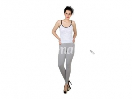 Twin birds womens leggings  Grey smoke