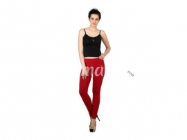 Twin birds womens leggings Lava red