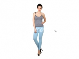 Twin birds womens leggings Mid blue