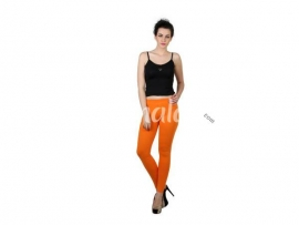 Twin birds womens leggings Orange tango