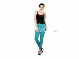 Twin birds womens leggings Teal blue